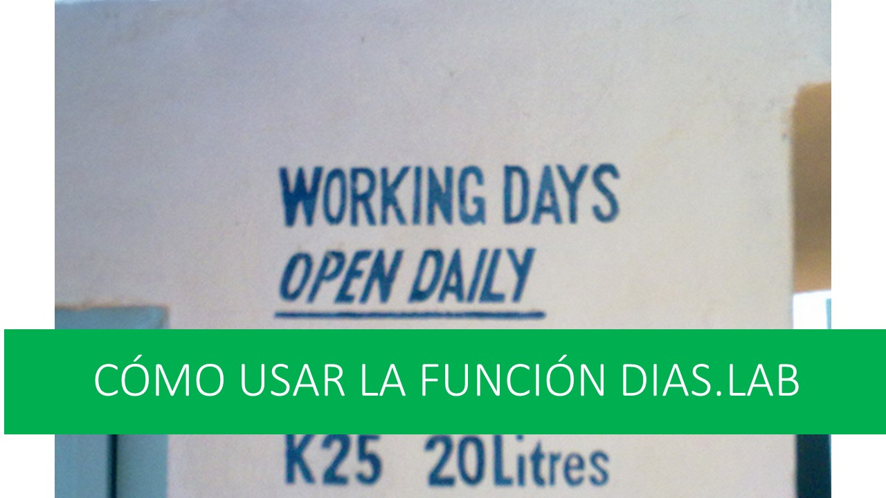 Cómo usar la función DIAS.LAB