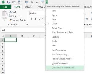 barra de herramientas de acceso rápido de excel.pn