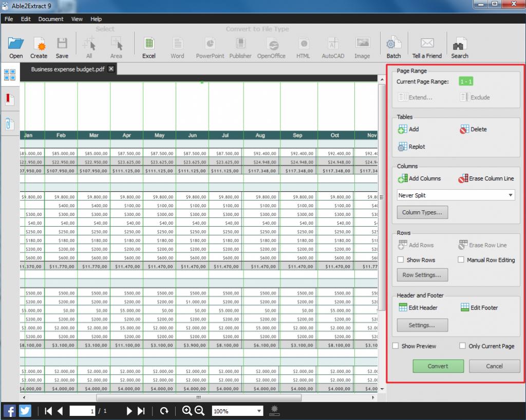 convertir de pdf a excel personalizar