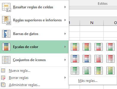 formato condicional tipos de formatos condicionales