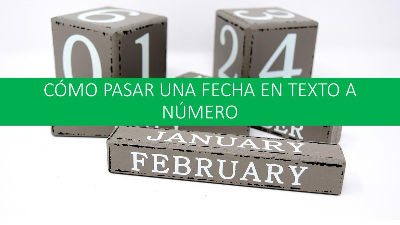 Pasar mes en texto a números. MesANum
