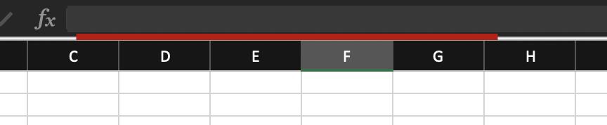 ampliar barra de fórmulas en Excel